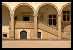 Staircase In The Courtyard Of Wawel Castle by skarzynscy