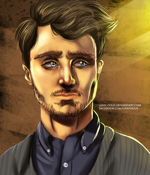 Daniel Radcliffe - Digital Drawing by Gray-Dous