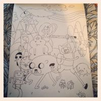 Adventure time sketchdump by EstherWho