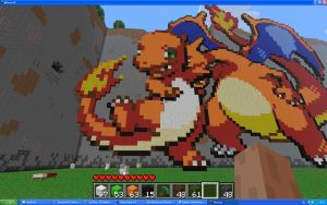 Charmander On Minecraft by Miccopicco