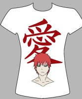 ''Gaara'' (Love) T-Shirt Mock-up by SprinkleSprankles