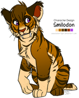 Character design: Smilodon by KaiserTiger