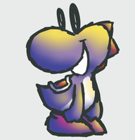 Purple Yoshi by MegYosh