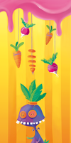 Carrot doll bookmark by Littlejunko