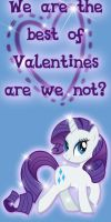 Rarity Valentine Day Card by Kurenai-Hio