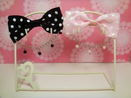 Polka Dot Bows by Strawberryserenade