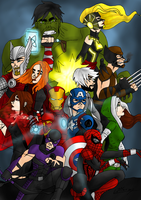 Avengers by Hlontro