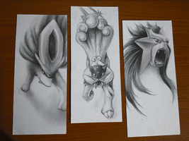 Legendary Beast Bookmarks by ErnestoVladimir