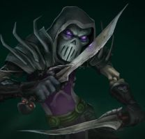 Warcraft Rogue Animated Splash Art by Bering