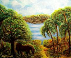 Tropical scenery by zhaleh