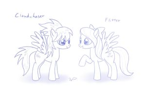 Cloudchaser and Flitter by wdeleon