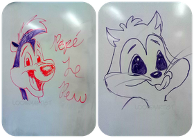 Whiteboard Drawings by LooneyArtist