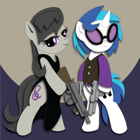 Commission:  Gangster Scratch and Octavia Mock-up by The-Paper-Pony