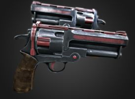 Hellboy Samaritan revolver by Tom3dJay