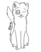 MS Paint Friendly Cat Lineart/Base by Snow-Leopard-Roxie