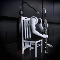 SKNAIL's bass clarinet player by SKNAIL