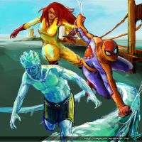 Spiderman and his amazing friends by sempernow