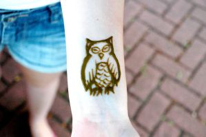 Little Owl Henna by catty01