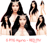 Photopack PNG #3: 6 PNG Hyuna - RED by Catbeis