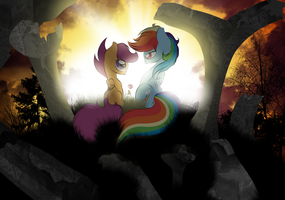 Dashie and Scootaloo together forever by V-D-K