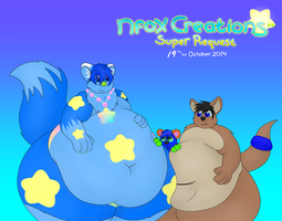 -SUPR RQST- Supernova and Kangy Squish Marillon x3 by NFoxCreations