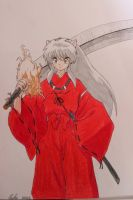 Inuyasha with Tessaiga by martha1101
