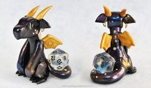Galaxy Dragon - D20 Dice Guardian by HowManyDragons