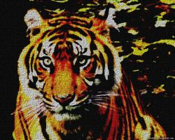 Faux Tiger Painting by VickyM72