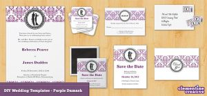 Damask Wedding Invitation by ClementineCreative