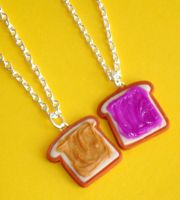 PB and Jelly Necklaces by ClayConnections