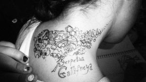 Gallifreyan tattoo by BlueBoxDrifter