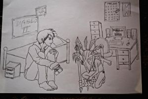 Waiting for Diablo 3 - Sketch by case15