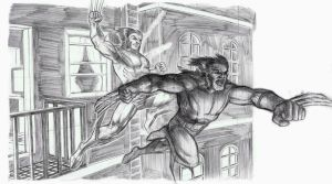 wolverine leap of faith by Dreee