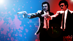 Rajinikanth and Kamal Haasan in  PULP FICTION by KGBWorks