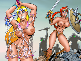 Amazons In Battle by curtsibling