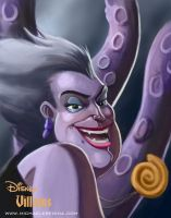 Disney Villains - Ursula WIP 2 by mregina