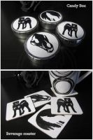 Candy boxes and Beverage coasters by SaQe