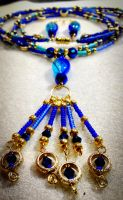 Peacock set closeup by OohShinyJewelry