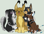 Skaella 4 Pup Group by Samalu17