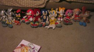 sonic plushie collection by CrazyCousins