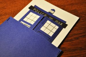 tardis birthday card by yiea
