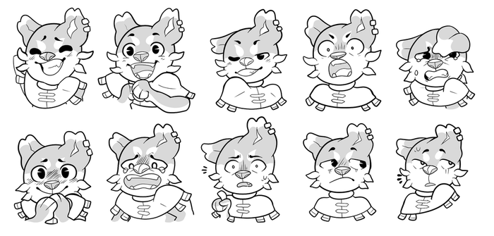 Woofer Expression Sheet by Captainier