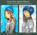 Draw This Again Meme Winter Theme by Goldencard