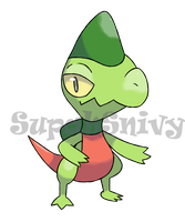 Crested Lizard Pokemon by SupahSanti