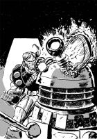 Daak vs Dalek by danmcdaid