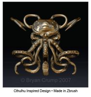Cthulhu Inspired Sculpture by thebryancrump
