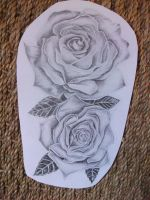 Roses Pencil Drawing by CircusBug