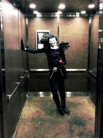 Creepin' in the Elevator -- Ryuk Cosplay by Zodiac-Salad