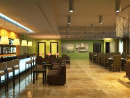Restaurant Rendering by zodevdesign