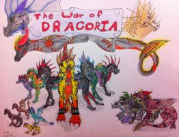 The War of Dracoria Cover by queenfirelily17